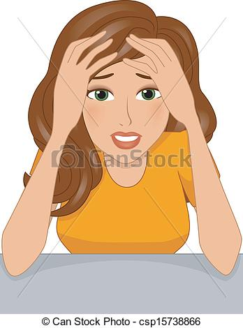 Stressed Woman Clipart - Clipart Suggest