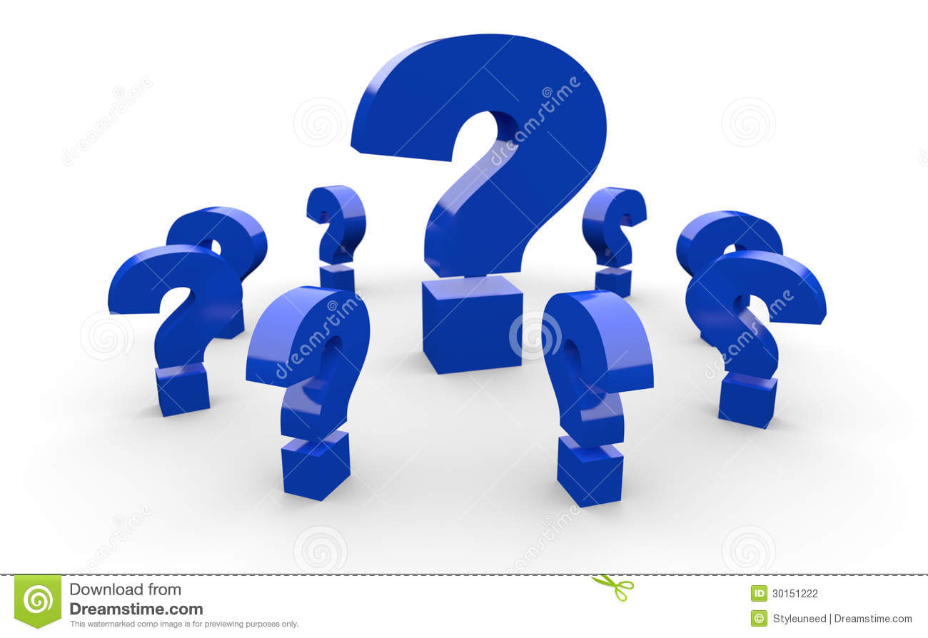 Question Marks Stock Photography   Image  30151222