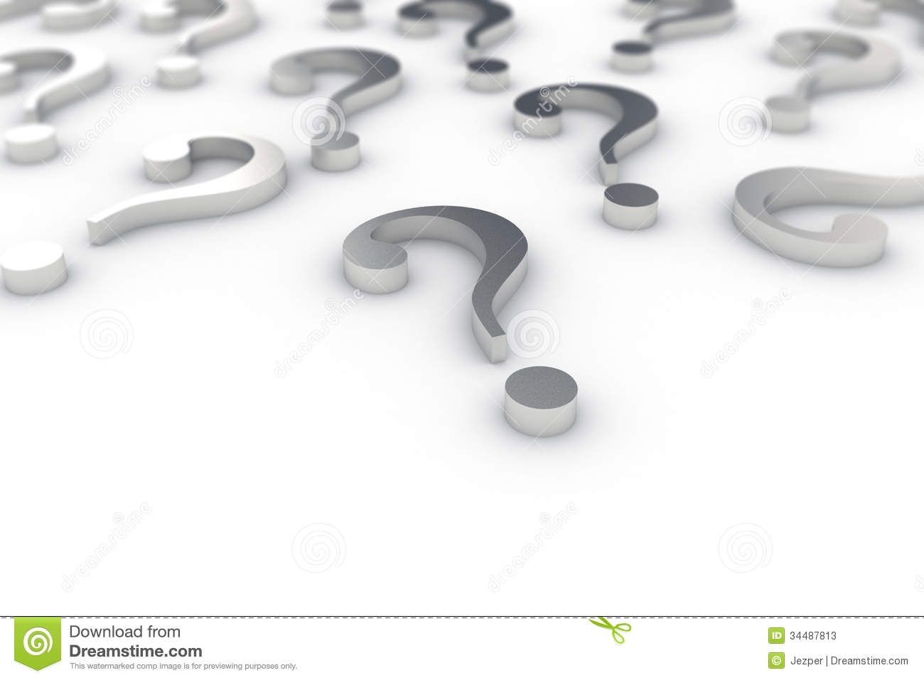 Question Marks Stock Photos   Image  34487813
