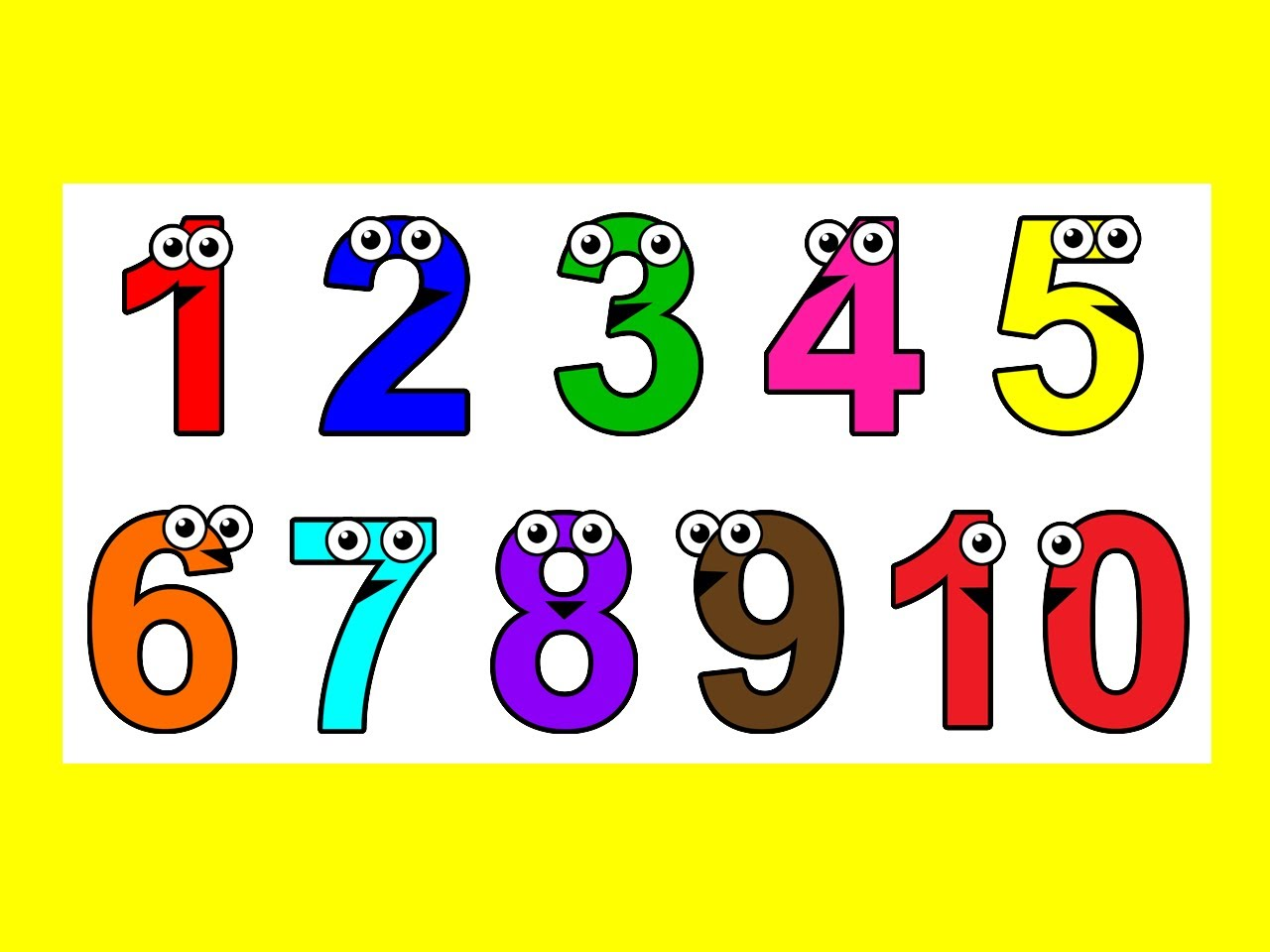 free clip art numbers 1 10 - photo #49