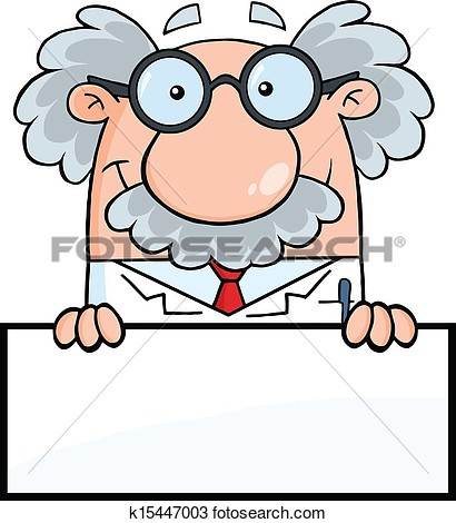 Clipart   Professor Over Blank Sign  Fotosearch   Search Clip Art