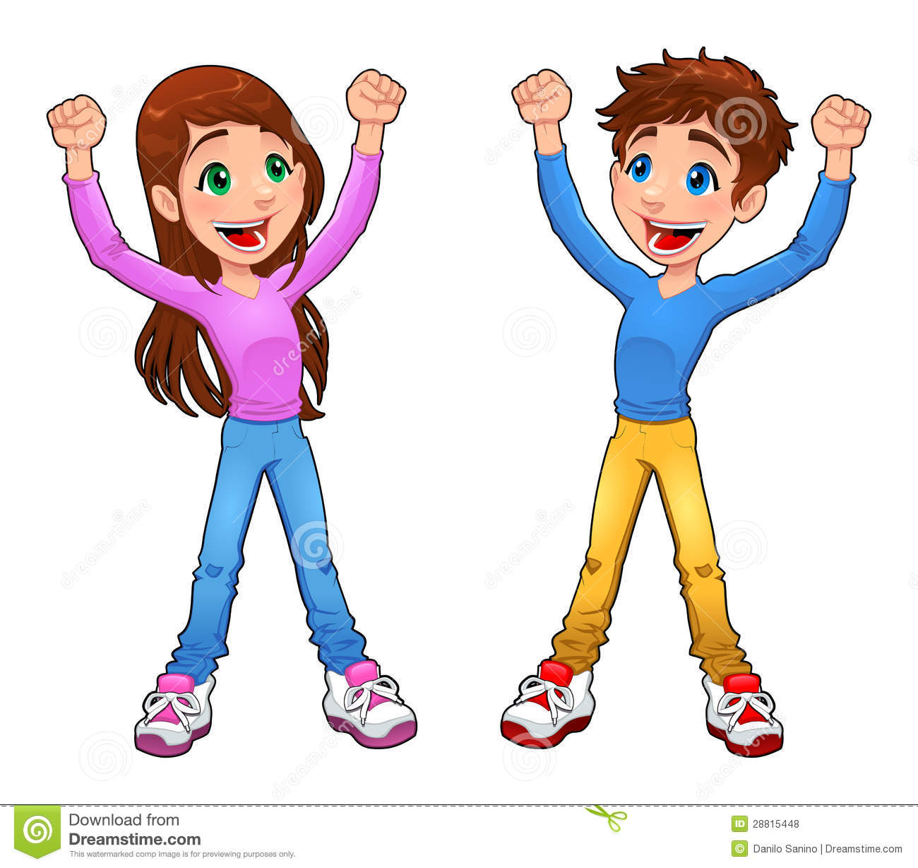 Enthusiast Boy And Girl  Royalty Free Stock Photos   Image  28815448