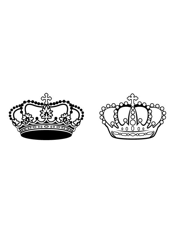 King And Queen Vinyl Decal Crowns For Bed By Anchordecalco  31 50