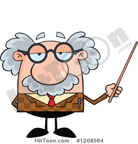 Professor Clipart  1208564  Professor Holding A Pointer Stick By Hit