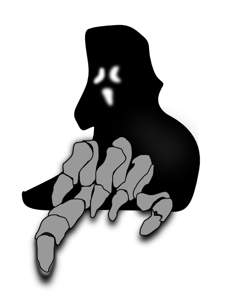 Scary Ghost Clip Art At Clker Com   Vector Clip Art Online Royalty