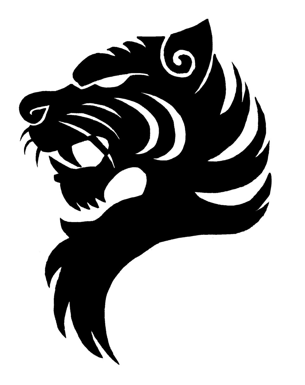 Tiger Logo Black And White   Clipart Panda   Free Clipart Images