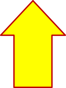 Up Yellow Arrow Clip Art At Clker Com   Vector Clip Art Online