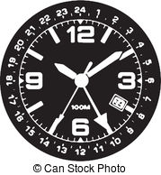 Watch Face Clipart Vector Graphics  2485 Watch Face Eps Clip Art