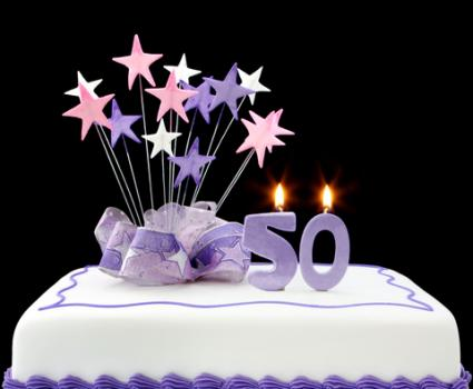 50th Birthday Party Cake  Copyright Robynmac At Dreamstime Com