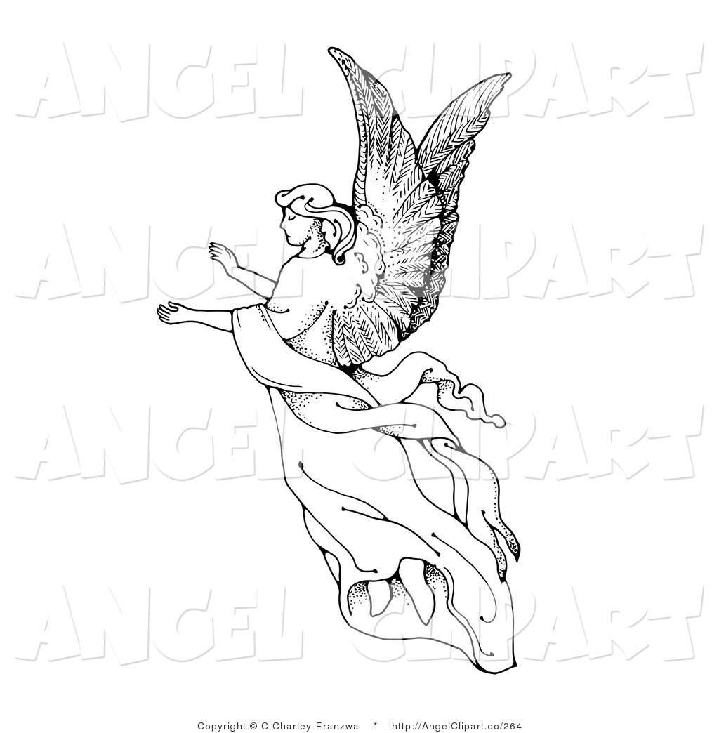 Black Angel Free Clipart - Clipart Kid