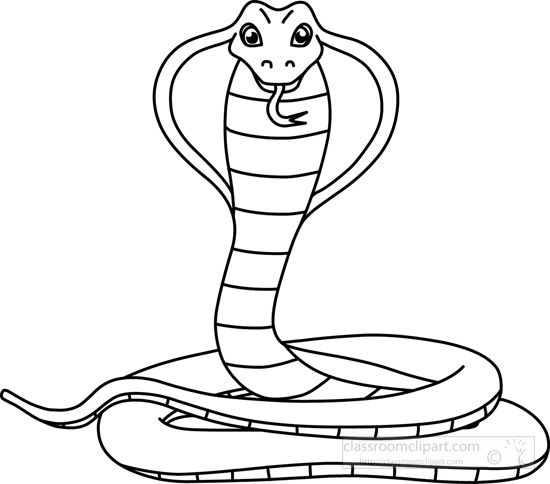 Snake Black And White Clipart - Clipart Kid
