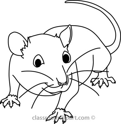 Animals   Mouse 03a Outline   Classroom Clipart