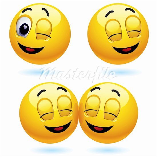 Animated Winking Smiley Face Clip Art