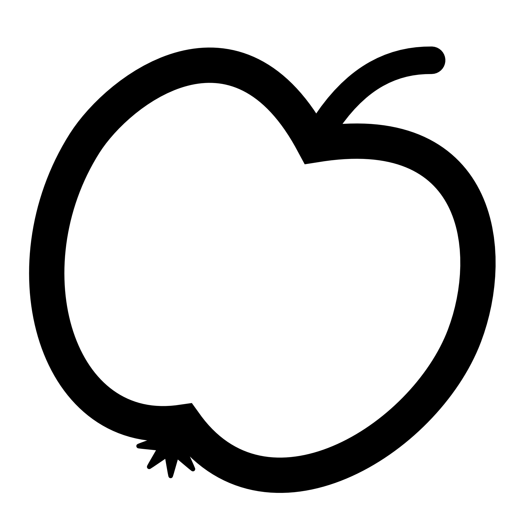 Apple Icon Black White Line Art Scalable Vector Graphics Svg Inkscape