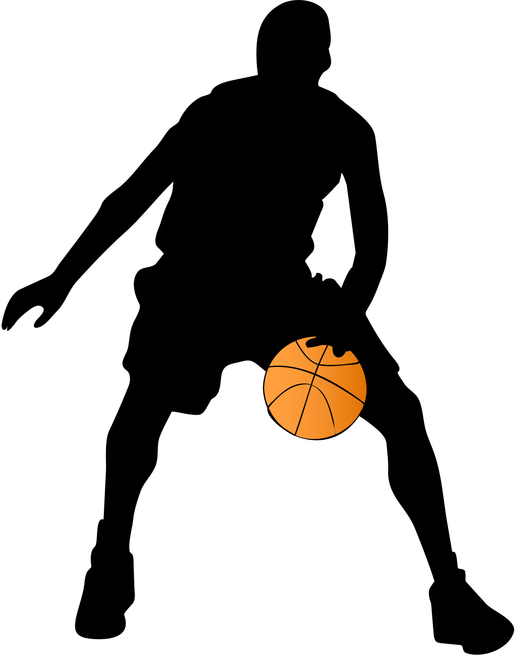Basketball Silhouette Clipart - Clipart Kid
