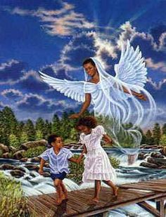 Black African Art   African American Religious Clipart Of Black Angel