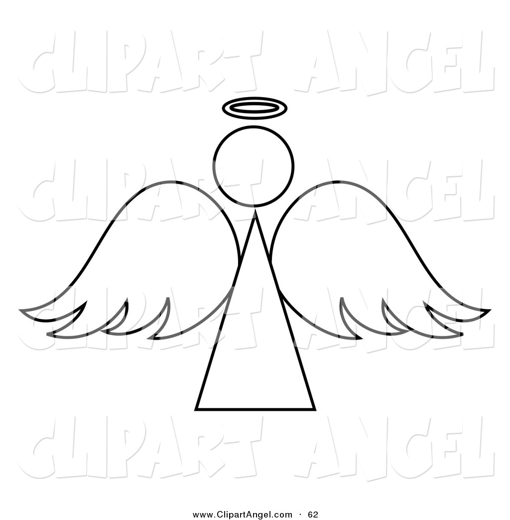 Black And White Angel Outline Design On White By Pams Clipart 62 Jpg
