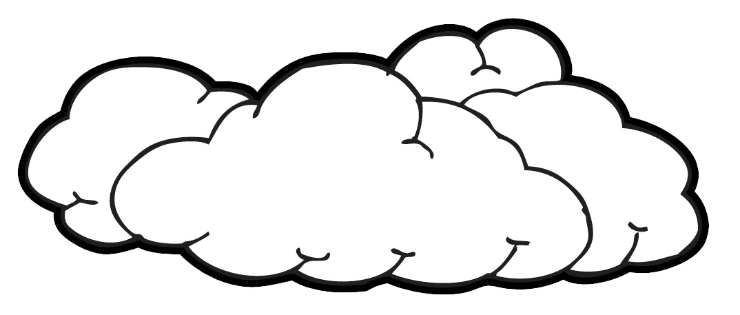black and white cloud clipart clipart suggest