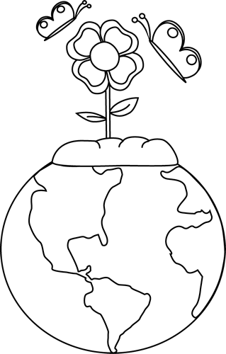 Black And White Earth And Nature Clip Art   Black And White Earth