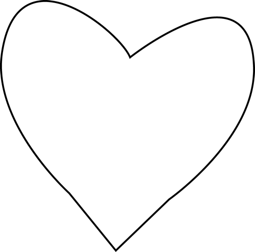 Black And White Heart For Letter H Clip Art   Black And White Heart