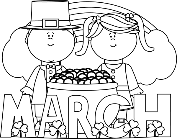 March Black And White Clipart - Clipart Suggest