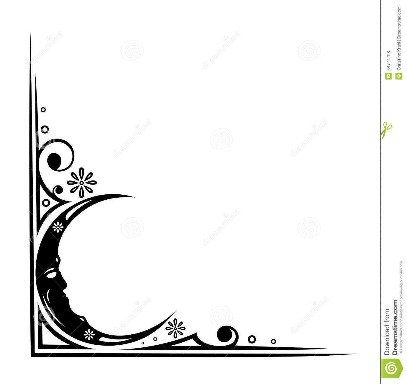 Black Stars And Moon Clipart Moon And Flowers Filigree #d5eyXs ...