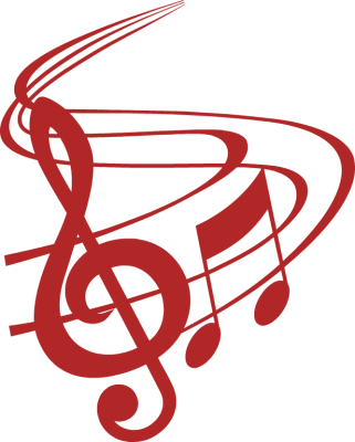Christmas Music Notes Border Clip Art Red Music Notes Clip Art