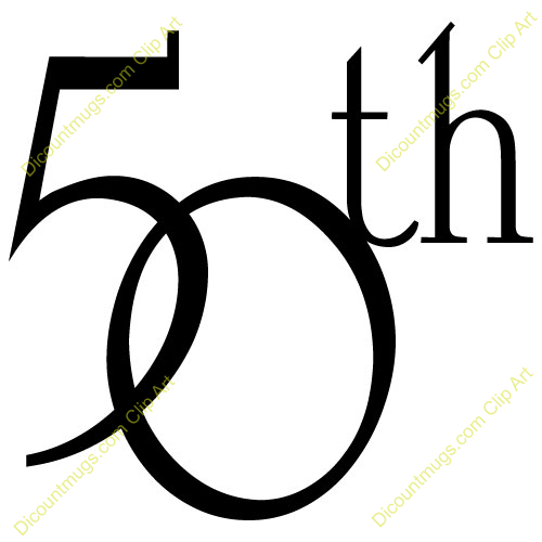 Clipart 11752 50th Anniversary Intertwined   50th Anniversary
