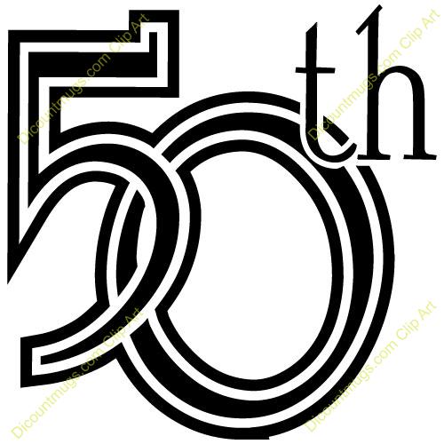 Elegant 50th Birthday Clipart Clipart Suggest