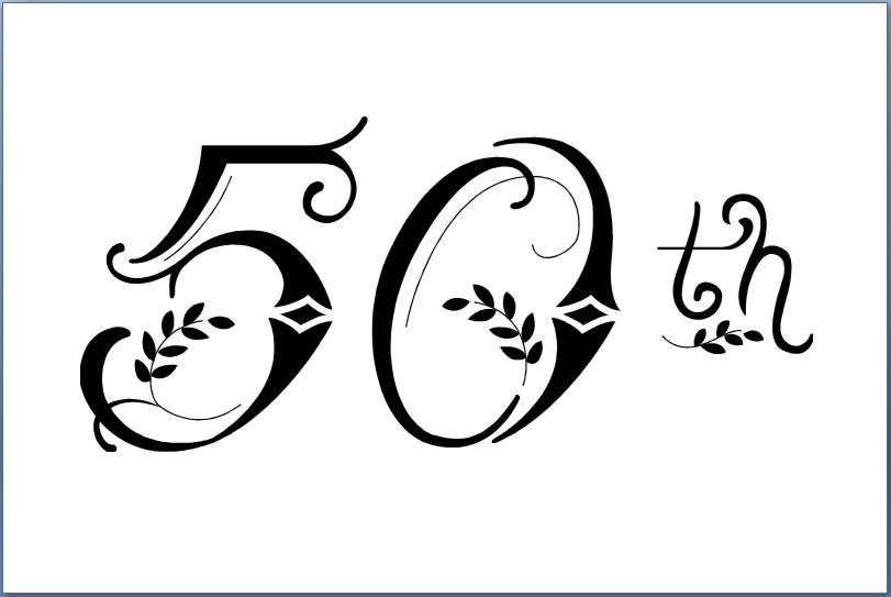 elegant 50th birthday clipart clipart kid