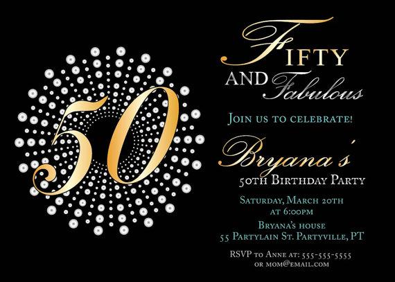 50Th Birthday Invitation Cards as beautiful invitation template