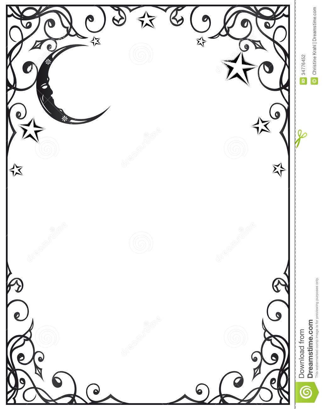 Moon And Stars Border Clipart - Clipart Kid