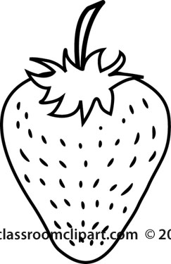 Food   Strawberry Fruit Outline   Classroom Clipart
