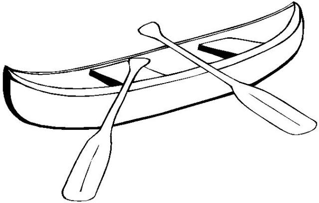 Canoe Black And White Clipart - Clipart Suggest