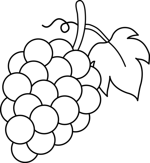 Fruit Salad Clipart Black And White Grapes Clipart Black And White Png