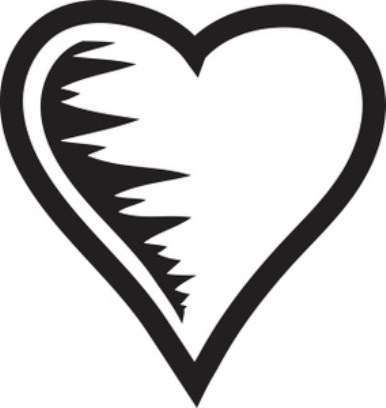 Heart Outline Black And White Black Heart Clip Art Jpg