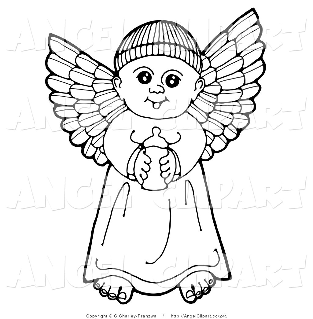 Larger Preview  Clip Art Of A Black And White Pen And Ink Drawing Of A