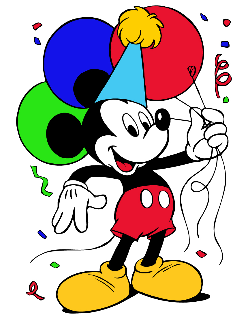 Minnie Mouse 1st Birthday Clip Art Mickey Mouse Birthday Clipart