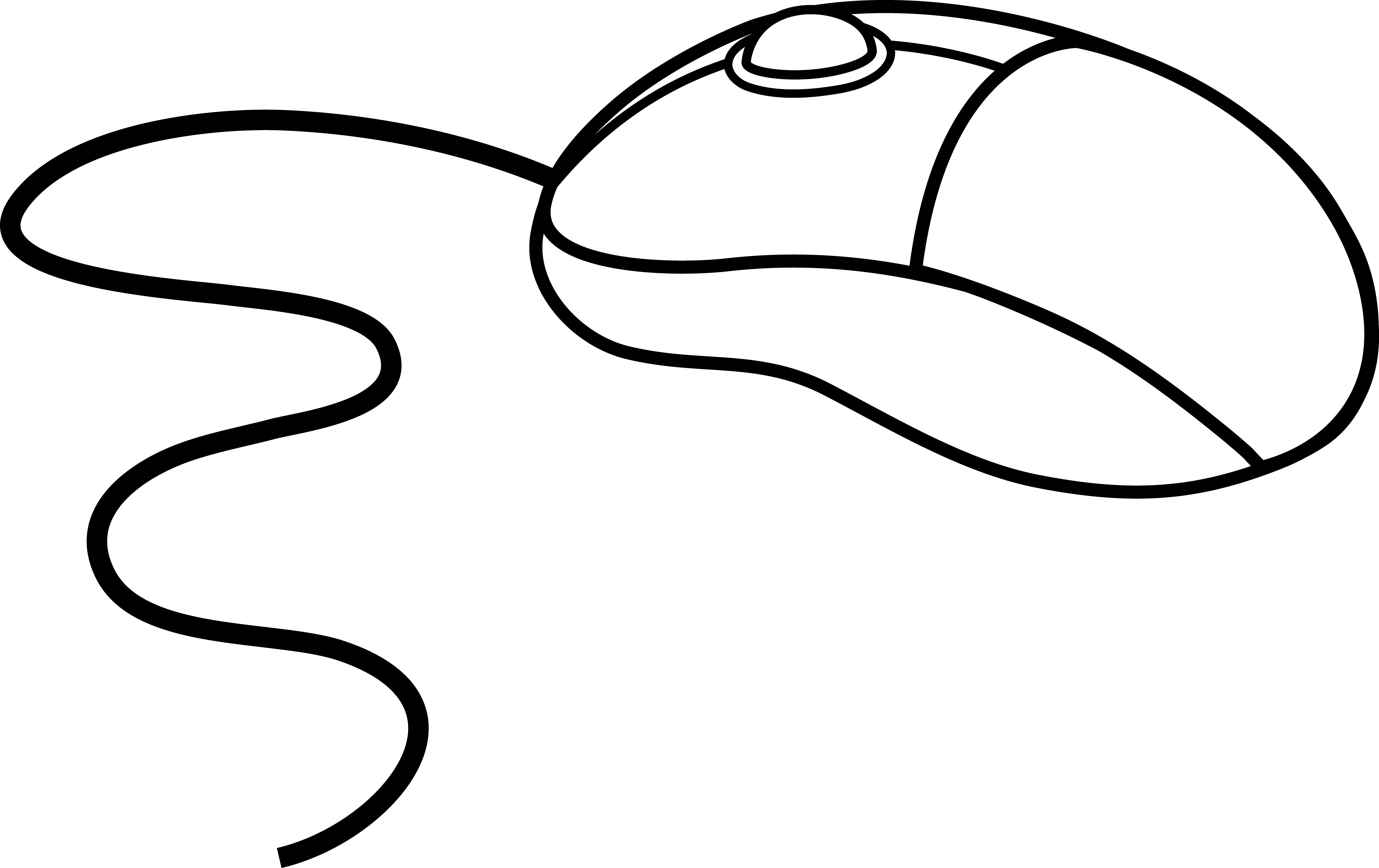 Mouse Clipart Black And White Computer Mouse Clipart Black And White