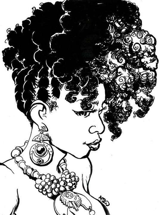 Naturally Beautiful Hair  Art By Ghettomanga
