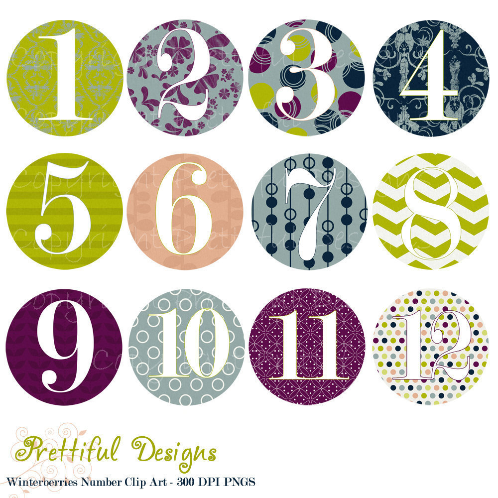 free clip art numbers 1 10 - photo #25