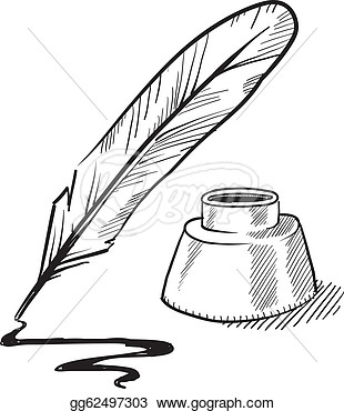Clip Art Quill Clipart scroll quill pen clipart kid and inkwell sketch