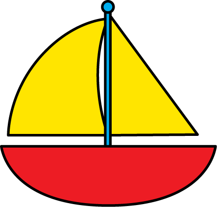 Red Sailboat Clip Art Image   Red Sailboat With Yellow Sails