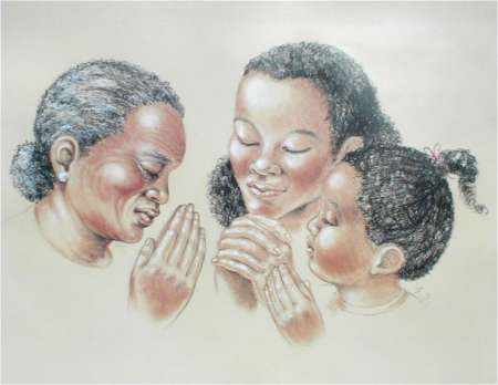 Religious Artdaughters Praying Black Children Praying Religious