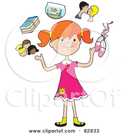 Royalty Free  Rf  Clipart Illustration Of A Dirty Blond Woman Juggling