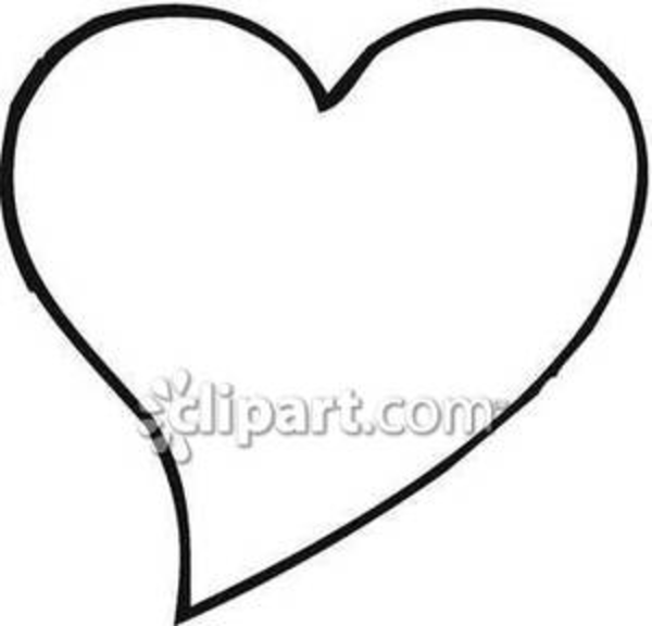 Simple Black And White Heart Royalty Free Clipart Picture   Free