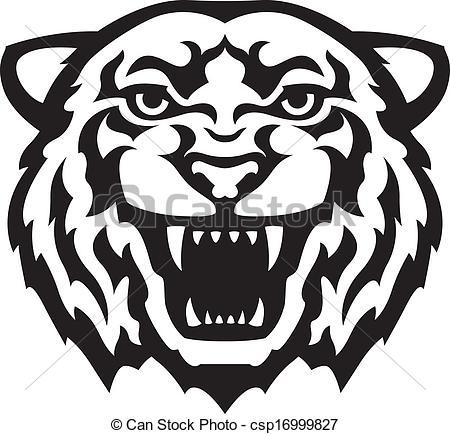 Tiger Black And White Clipart - Clipart Suggest