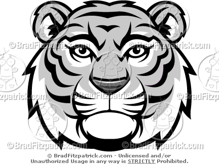 Tiger Head Black And White Clipart Images   Pictures   Becuo