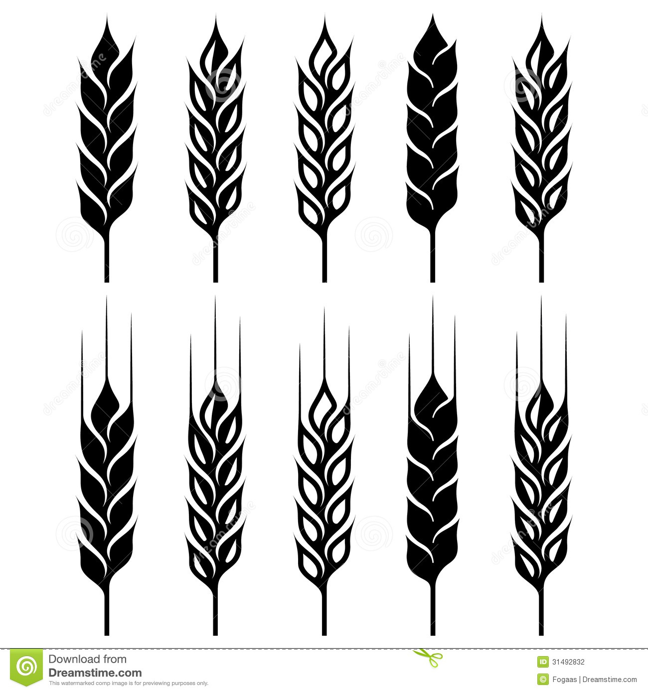Wheat Ear Sign Set Stock Photography   Image  31492832