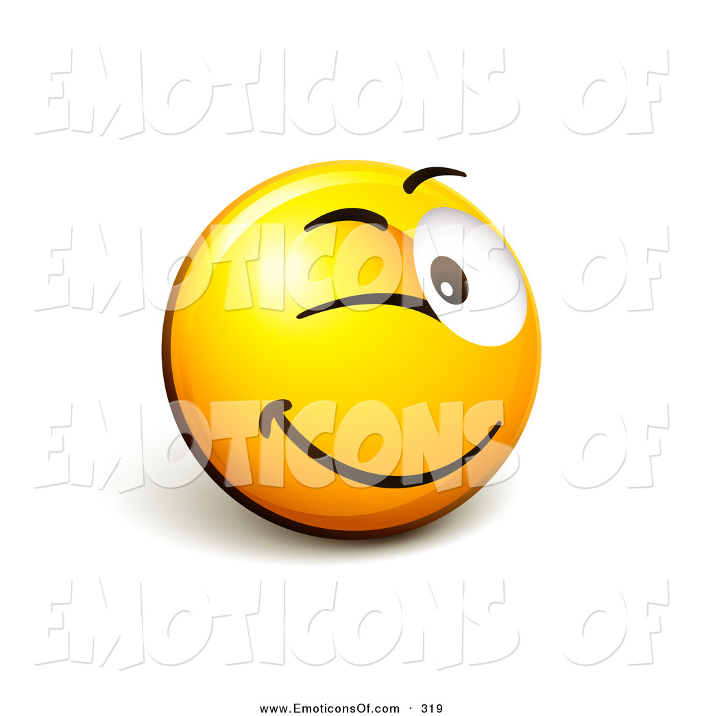 Winking Smiley Face Clip Art